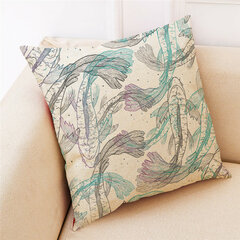 Concise Style Printed Cotton Pillowcase Square Decoration  Cushion Cover