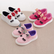 Girls Lovely Bowknot Decor Slip On Comfy Flat Shoes