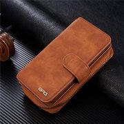 Women Men Multi-slot Phone Bag PU Leather Wallet Split Zipper Case For iphone6/6plus iphone6s/6splus