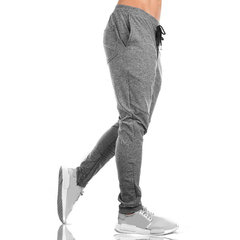 Mens respirant cordon taille élastique slim fit casual fitness pantalon de course