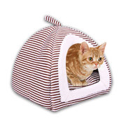 2 in 1 Pet Dog Cat Winter Soft Tent Houses Puppy Sleeping Bag Bed Mat