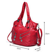 Borsa a tracolla casual multi-carry da donna in morbida pelle
