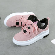 Round Toe Lace Up Sport Casual Shoes For Women