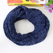 Mens Unisex Winter Warm Soft Scarf Outdoor Windproof Thickening Knitted Ring Scarf