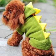 Pet Dog Cat Winter Autumn Clothing Dinosaur Turned Legs Fitted Pet Clothing Dinosaur Dog Set Lovely
