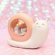 Snails Night Light Moon Lamp Romantic Bedside Lamp Decoration Resin Crafts Ideal Gifts