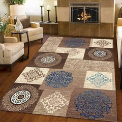 European Classical Floral Style Non-slip Home Carpets Living Room Bedroom Floor Mat Carpets Decor