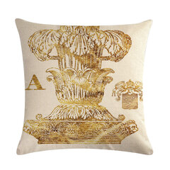 Vintage Ancient Rome Knight Linen Cushion Cover Home Sofa Art Decor Back Seat Throw Pillow Cover