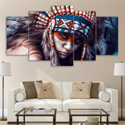 Indian Woman Canvas Painting Print Picture Home Wall Modern Art Decor