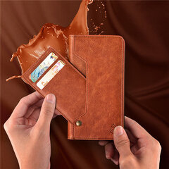 Leather Wallet Phone Case Slim Flip Cover Kickstand with Movable Card Holder For Iphone