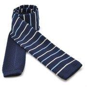 Korean Style Male Leisure Neckties Thin Stripe Plaids Slim Skinny Knitting Narrow Ties
