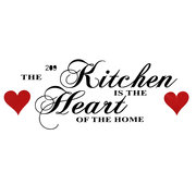 Kitchen Heart of Home Wall Art Sticker House Decoration