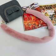 Women Fuzzy Solid Shoulder Strap Casual Bag Accessories