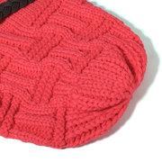Knit Crochet Buttons Strap Cap Decorative Braids Baggy Beanie Hat