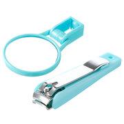 Nagelknipser mit Lupe Maniküre Trimmer Zehennagel Clipper für ältere Kinder Nagel Werkzeug
