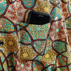 Chemise décontractée à manches courtes à manches courtes pour hommes, 100% coton