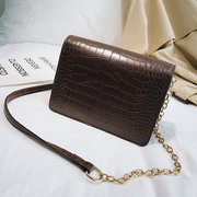 Women Chic Crocodile Pattern Crossbody Bag PU Leather Shoulder Bag