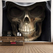 Cartoon Skull Printed Wall Hanging Tapestry Halloween Home Decor Polyester Mat Towels