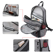 KAKA Business Anti Theft Waterproof Travel Bag Backpack With USB Charging Port