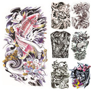 15 Styles Full Flower Arm Tattoo Sticker Impermeável Temporário Body Paint Skull Carp