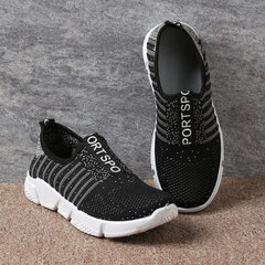 Women Casual Breathable Mesh Non Slip Soft Sole Sneakers