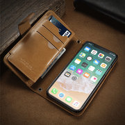 Men And Women 4.5/5.5 Inch Phone Case For Iphone X Multi-function Wallet 9 Card Slot