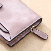 Elegant Candy Color PU Leather Long Wallet 5.5 inch Phone Bag Card Holder Purse For Women