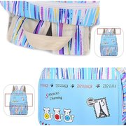 Women Color Strip Sac à dos Cute Pattern Cat