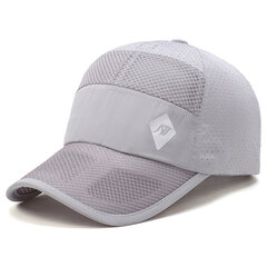 Mens Unisex Breathable Quick-dry Baseball Hat Leisure Outdoor Sport Sunshade Net Caps