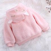 Bonito Orelha Bebê Meninas Meninos Com Capuz Casacos Casacos de Lã Para 0-36 M