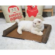 Breathable Rattan Summer Cool Pet Couch Bed Dog Cat Summer Sleep Sofa Bed