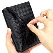 Männer und Frauen Echtes Leder Ultra - Leichte Dünne Reisepass Brieftasche Schaffell Weben Geldbörse