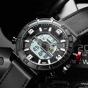 Relojes deportivos con banda de cuero para reloj