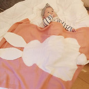 Infant Baby Bunny Napping Blanket Rabbit Bedding Towel Cover Throws Wrap Soft