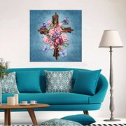 Religious Cross Diamond Embroidery 5D Diamond DIY Painting Cross Stitch Living Room Home Decor