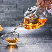 Хороший ясный чайник боросиликатного стекла с стрейнером Infuser нержавеющей стали 304 теплостойким