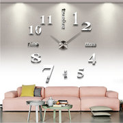 Living Room Decorations Bedroom 3d Wall Stickers Diy Clock Personality Home Mirror Wall Clock Mute Clock 015