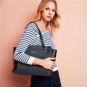 Kadell Women Stitching Tote Handbags Vintage Shoulder Bags Shopping Bags