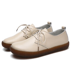 Leather Soft Casual Flat Shoes