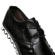 Men Color Match British Style Lace Up All Match Casual Chaussures noires