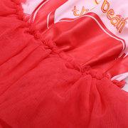 1 Pcs Swan Padrão Criança Meninas Swimwear Swimsuit com Tutu Saia Para 1Y-7Y