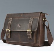 Vintage Genuine Leather Business Crossbody Bag For Men