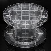 Plastica trasparente a 360 gradi Rotazione cosmetica Profumo Organizzatore di immagazzinaggio del polacco del chiodo
