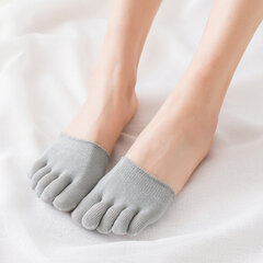 Women Summer Cotton Invisible Toe Socks Half Grip Heel Socks Breathable Outside Half Calcetines