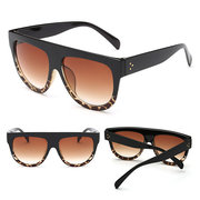 Women Classic Clear Large Frame Anti-UV Glasses Outdoor Casual Unique Sunglasses