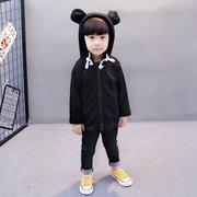 Cute Ear Hooded Kids Coat Spring Clothes For Children Boys Girls Animal Jacket
