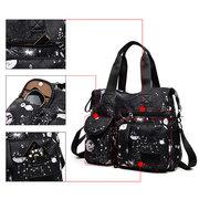 Nylon Grande capacité Starry Sky Pattern Shoulder Bag Sac à main pour femme