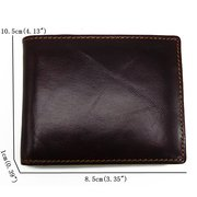 RFID Antimagetic Genuine Leather 8 Card Slots Bifold Wallet Vintage Coin Bag For Men