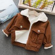 vendimia Estilo Chaqueta de lana gruesa Unisex para niños, niñas y niños, chaqueta para 6-36 m