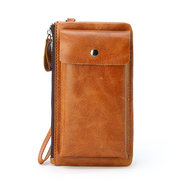 Genuine Leather Light 5.5inch Phone Bag Wallet Clutch